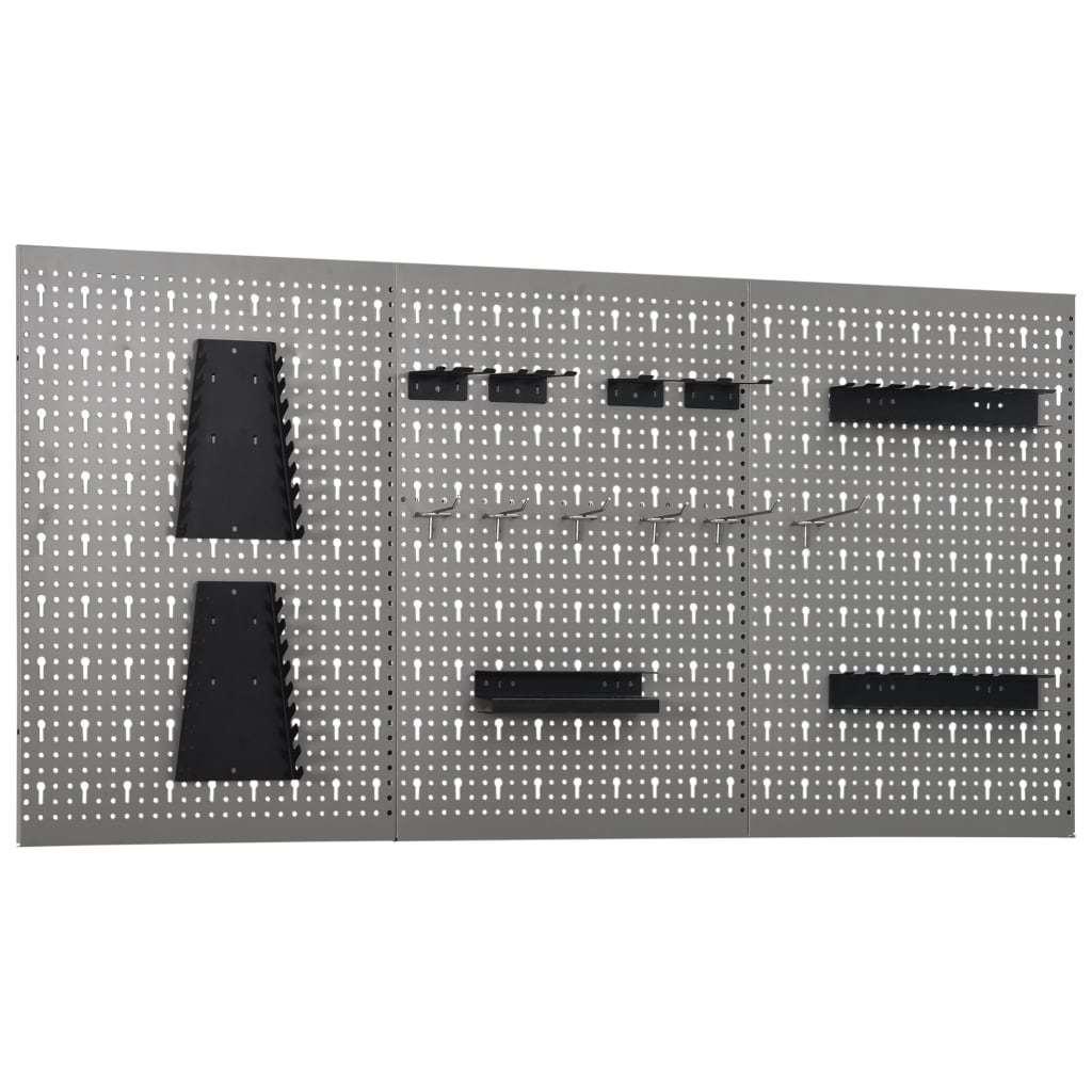Wall-mounted Peg Boards 3 pcs 15.7