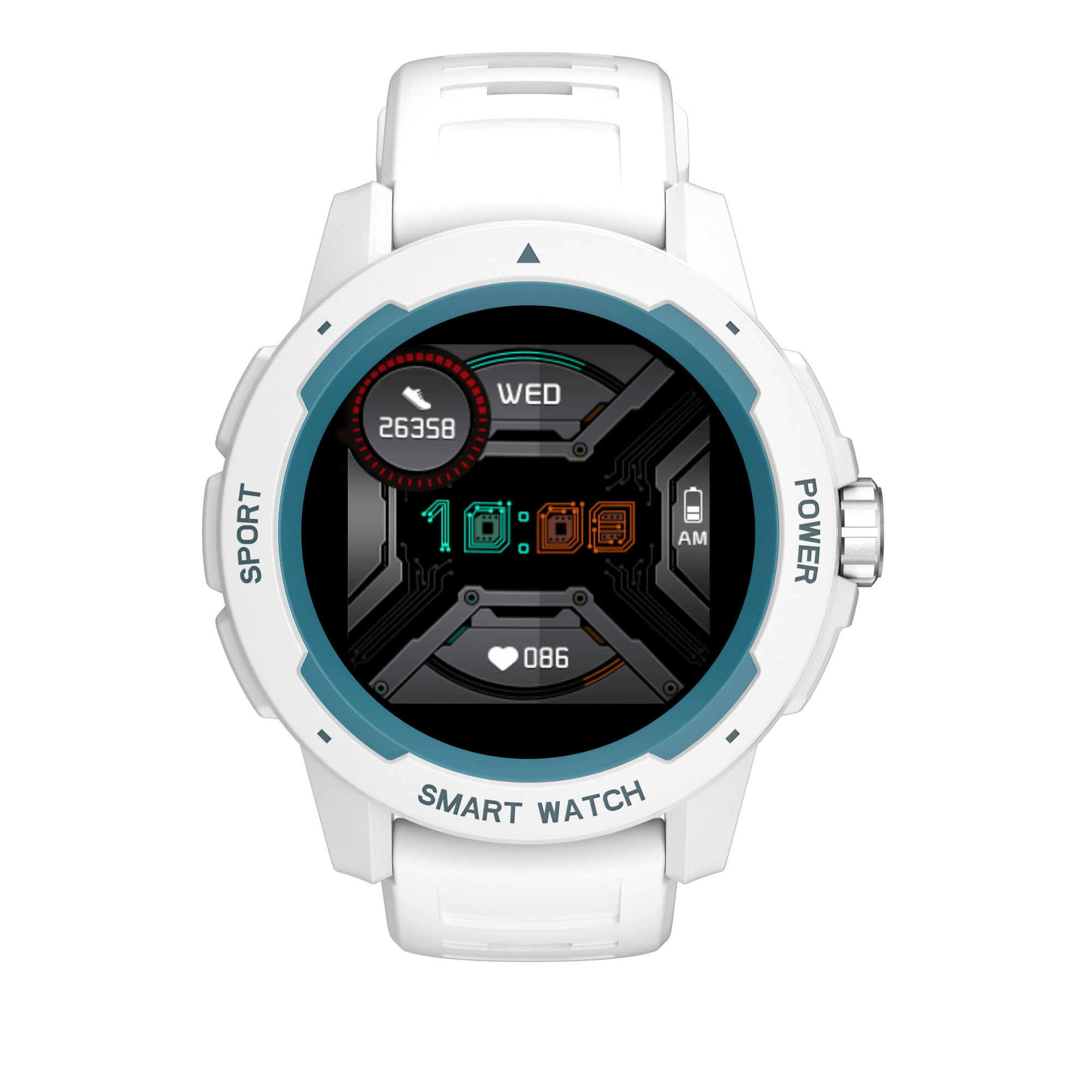 Smart watch full touch large screen IP68 waterproof fashion watch pedometer heart rate exercise mode information weather