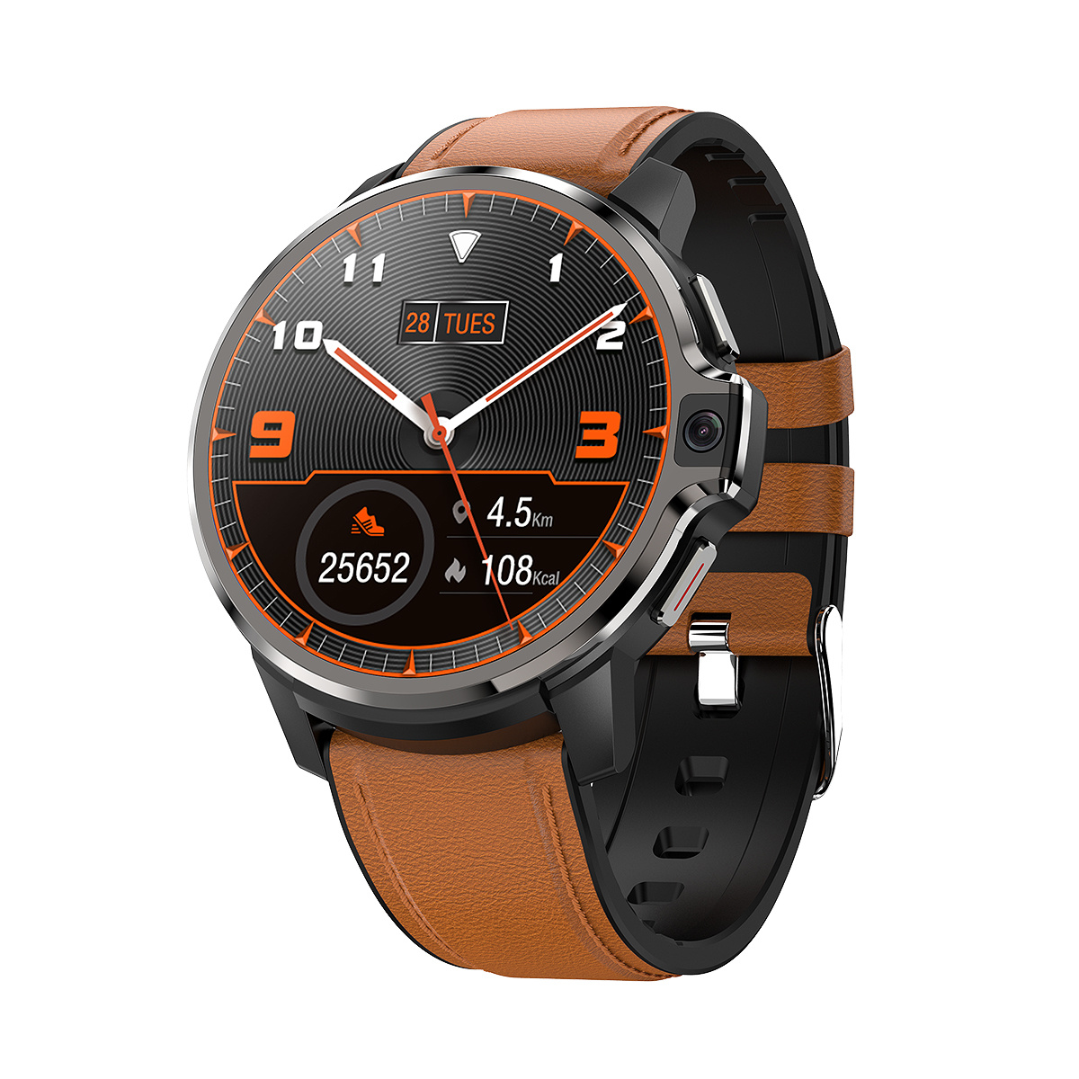 Smart watch technology black dual system heart rate blood oxygen monitoring 4G call watch GPS positioning