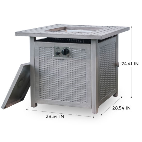 """dropship Trustmade 28"""" Slat Top Gas Fire Pit Table"""