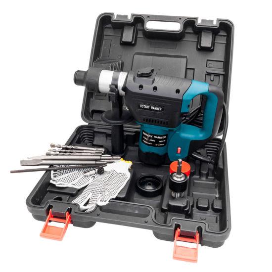 "dropship 1-1/2"" SDS Electric Hammer Drill Set 1100W 110V Blue-dk"