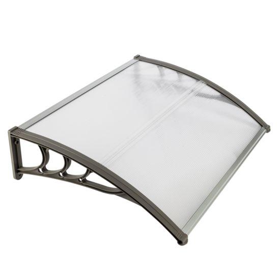 dropship Free shipping 100 x 80 Household Application Door & Window Rain Cover Eaves Canopy White & Black Bracket YJ