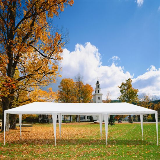 dropship 10'x30' Outdoor Canopy Party Wedding Tent,Sunshade Shelter,Outdoor Gazebo Pavilion with 5 Removable Sidewalls Upgraded Thicken Steel TubeYJ