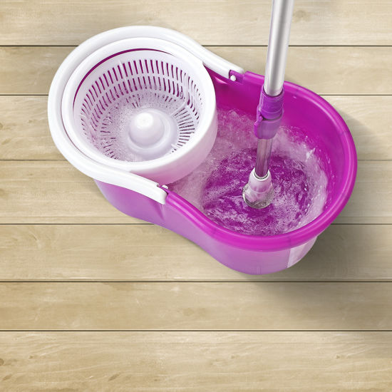 dropship 360° Spin Mop with Bucket Set Dual Heads Floor Cleaning System Home Clean Tools