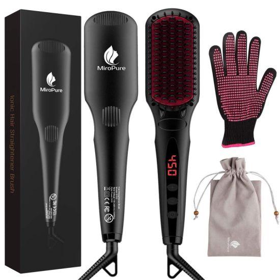 dropship 2-in-1 Ionic Enhanced Hair Straightener Brush YF