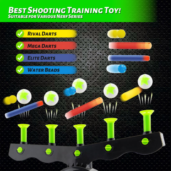 dropship Shooting Targets for Nerf Guns Shooting Game Glow in The Dark Floating Ball Electric Target Practice Toys for Kids Boys Hover Shot 1 Blaster Toy Gun 10 Soft Foam Balls 3 Darts Gift  YJ