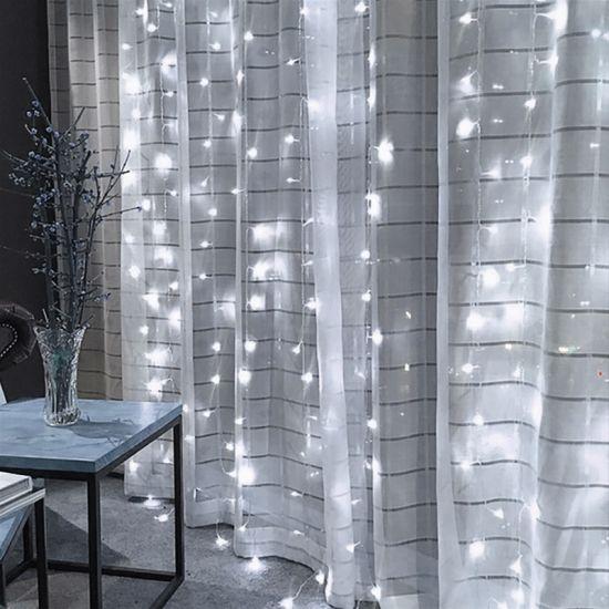 dropship 3M x 3M 300-LED White Light Romantic Christmas Wedding Outdoor Decoration Curtain String Lights (110V) RT