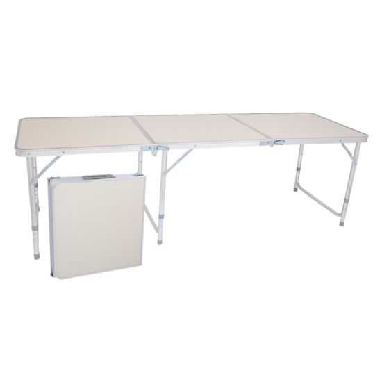 dropship US Stock Home Use Aluminum Alloy Portable Folding Table White Outdoor Picnic Camping Dining Party Indoor RT