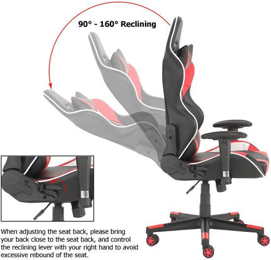 dropship Gaming Chair Office Computer Seating Racing PU Ergonomic Chair Rolling Swivel Adjustable Massage Racer Recliner