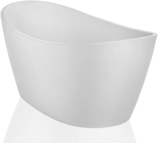 dropship 71 x 35.4 x 25.6 inch 100% Acrylic Freestanding Bathtub Contemporary Soaking Tub with Brushed Nickel Overflow and Drain KF-723