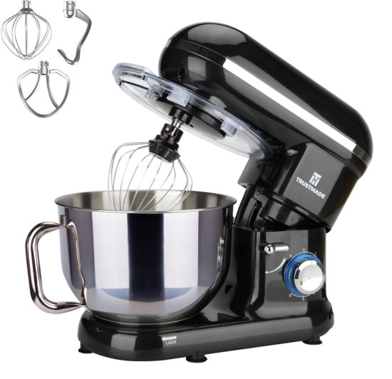 dropship 5.8QT 6 Speed Control Electric Stand Mixer with Stainless Steel Mixing Bowl Food Mixer TRUSTMADE for Thanksgiving gifts, Christmas gifts, New Year's gifts