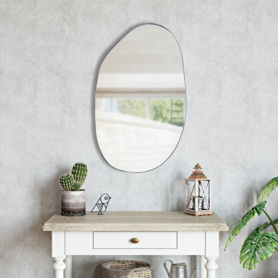 dropship Asymmetrical Accent Wall Mounted Mirror Decorative Living Room Bedroom Entryway, 2 Sizes