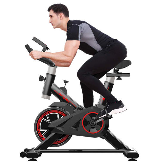 dropship Indoor Exercise Bike, Indoor Cycling Stationary Bike Belt Drive with LCD Monitor
