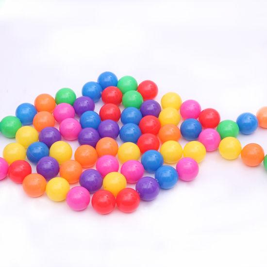 dropship 100pcs 5.5cm Fun Soft Plastic Ocean Ball Swim Pit Toys Baby Kids Toys Colorful YF