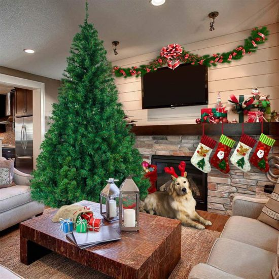 dropship Alightup 7ft 1100 Branch Christmas Tree, Artificial Pine Tree Home Holiday Christmas Decorarion RT