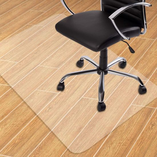"""dropship Clear Chair mat for Hard Floors 36 x 48 inches Transparent Floor Mats Wood/Tile Protection Mat for Office & Home (36"""" X 48"""" Rectangle for Hard Floor) RT"""