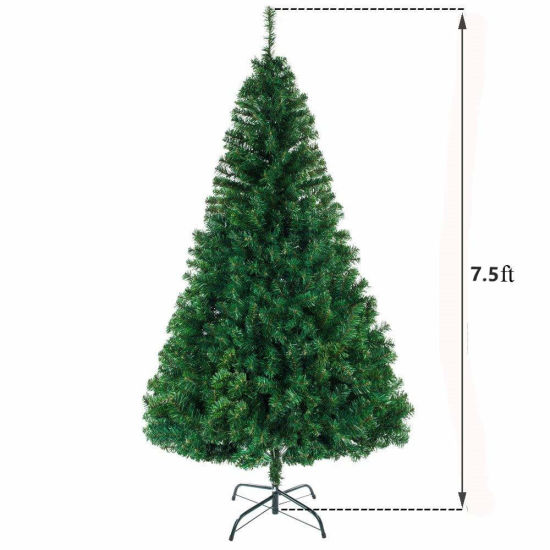 dropship Best Choice Products 7.5ft Premium Spruce Artificial Holiday Christmas Tree for Home, Office, Party Decoration w/ 1400 Branch Tips, Easy Assembly, Metal Hinges & Foldable Base  YJ