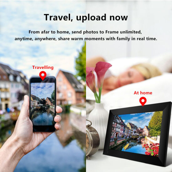 dropship 10 inch WiFi Digital Picture Frame, Share Photos from Anywhere, Touch Screen Display Thanksgiving gifts, Christmas gifts, New Year's gifts  Valentine's Day souvenirs, family souvenirs