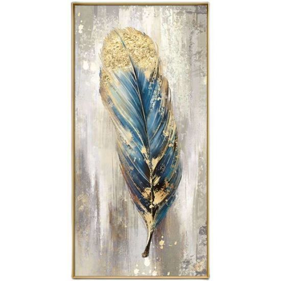 dropship Large Feather White Gold Abstract Oil Painting Hand Painted Paintings Wall Art Home Decor Picture Modern Oil Painting On Canvas