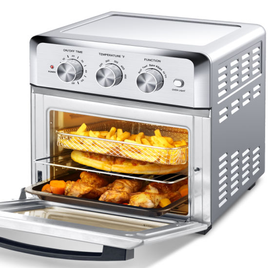 dropship Geek Chef Air Fryer Toaster Oven, 4 Slice 19QT Convection Airfryer Countertop Oven, Roast, Bake, Broil, Reheat, Fry Oil-Free, Cooking 4 Accessories Included, Stainless Steel,1500W