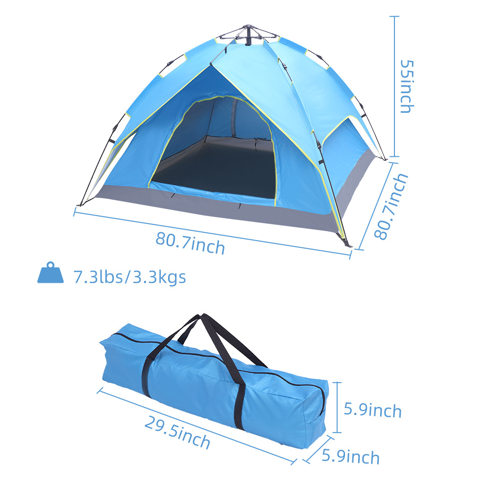 dropship Double-Deck Tow-Door Hydraulic Automatic Tent Build Outdoor Tent Blue